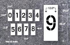 number stencil kits