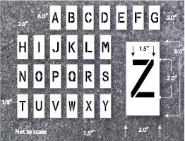 letter stencils plastic
