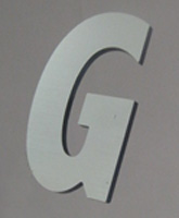 Metal laminate acrylic letters 9 inch online designer for Small plastic letters for signs