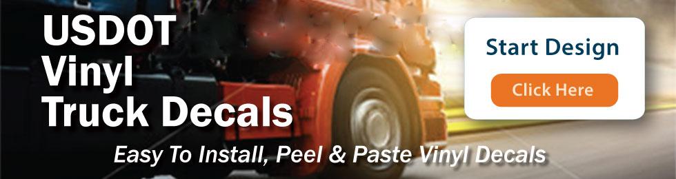 USDOT Numbers  Custom Vinyl Truck Decals Online - Custom vinyl decals design online