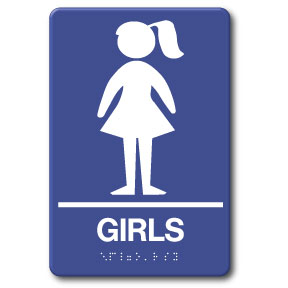 girls restroom sign in stock fast ship low prices ada09020
