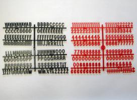Coca cola r menu letters in 3 4 inch always in stock for Davson quartet letter board