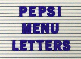 Pepsi r menu letters 3 4 inch blue item mbl 34pbl mbl34pbl for Davson quartet letter board