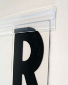 Pronto marquee letter kit 8 on 10 inch modern in stock for Sign letter track kit