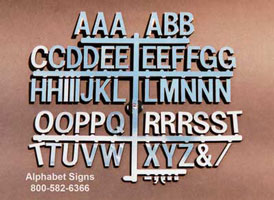 Directory board letters 15 inch silver rich for Davson quartet letter board