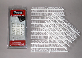 Tabee sign lettersr in stock includes numbers for Davson quartet letter board
