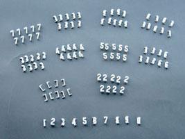 1 1 2 inch gothic number kit cdl 4143 alphabet signs for Davson quartet letter board