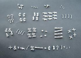 1 inch directory board symbol kit cdl4803 for Davson quartet letter board