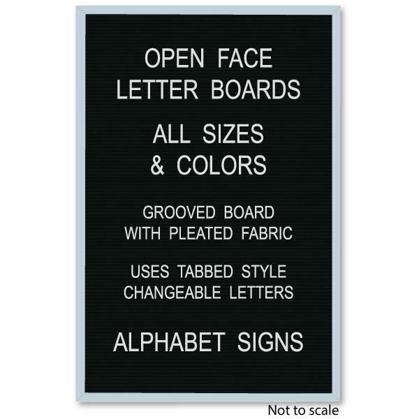 12 x 18 changeable black felt letter board in stock for Felt letter sign