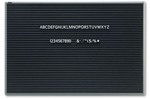 magnetic letter board 36w x 24h close