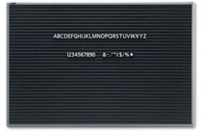 magnetic letter board 36w x 24h