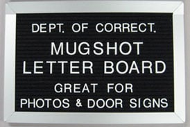 Mugshot Letter Board For Photos And Door Signs Dl071208l