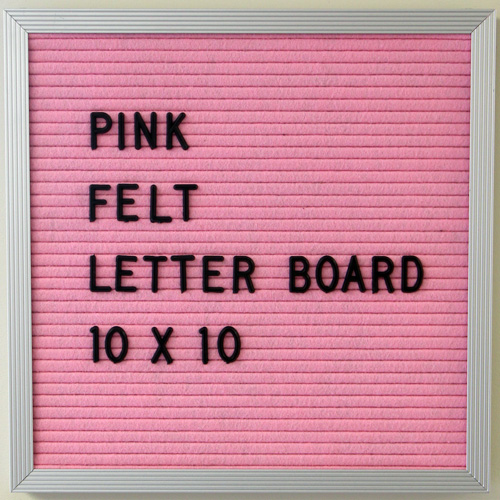 pink letter board 10 x 10 close