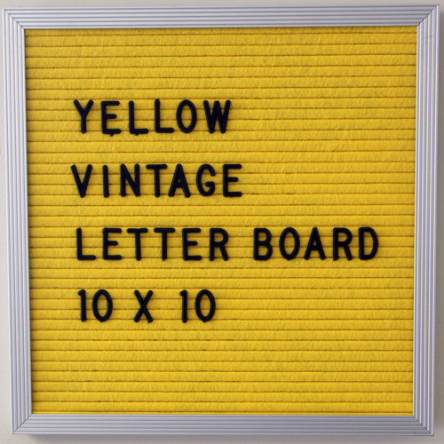 yellow vintage letter board close