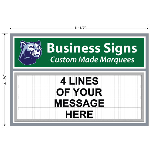 Double Pole Mount Marquee Sign 60w X 48h Free Design
