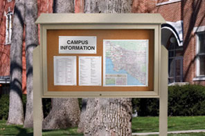 Outdoor Message Center 45 X 30 Cork Bulletin Board Top