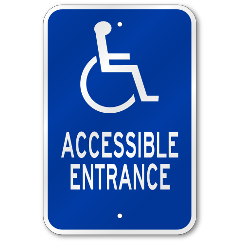 handicap parking sign template - accessible entrance sign fast same day ship low price