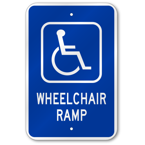 handicap parking sign template - handicap wheelchair ramp sign fast same day ship low