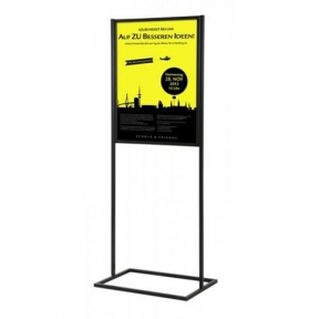 Sign Floor Stand 22 X 28 Poster Frame 63 Inch Tall Dual Upright Posts Large Base Sf02lf328