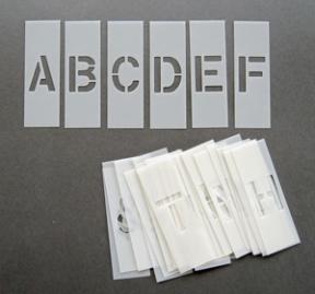 alphabet stencils 6 inch