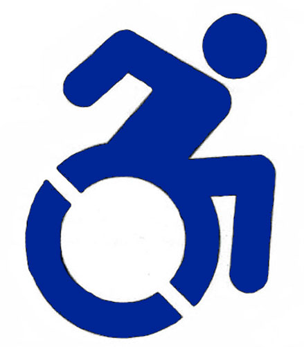 New york handicap parking stencil in stock low price for Handicap parking sign template
