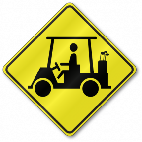 Golf Cart Sign W11-11 | TR02W1111 Free Clip Art Golf Cart With Seat Back Html on
