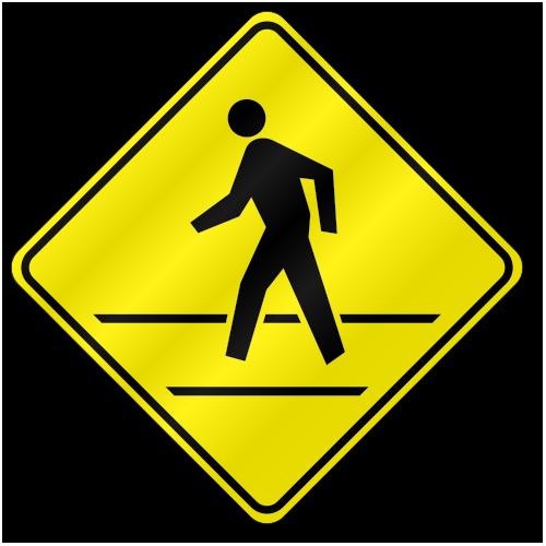 Pedestrian Crossing Sign W11A-2 | TR02W11A2