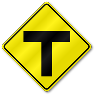Warning Traffic Signs - Compare All Sizes & Save Y Intersection Sign
