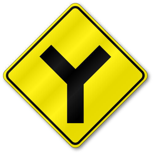 Intersection W2-...Y Intersection Sign