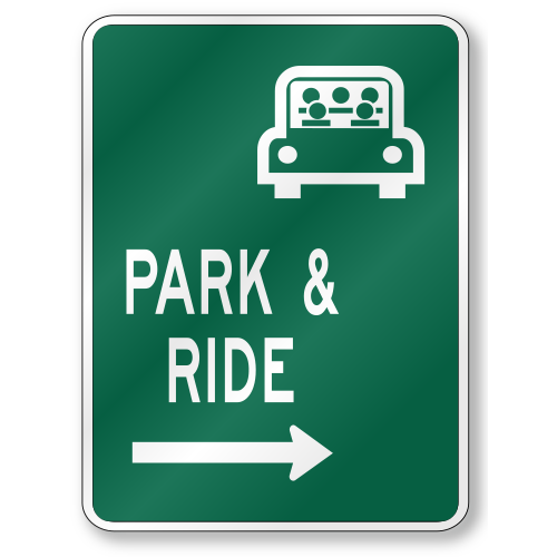 Park And Ride, D4-2 Traffic Sign, .080 Outdoor Reflective