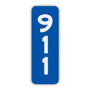 Reflective House Number Sign, 6 inch x 18 inch Double Sided Aluminum,  Custom 911 Sign