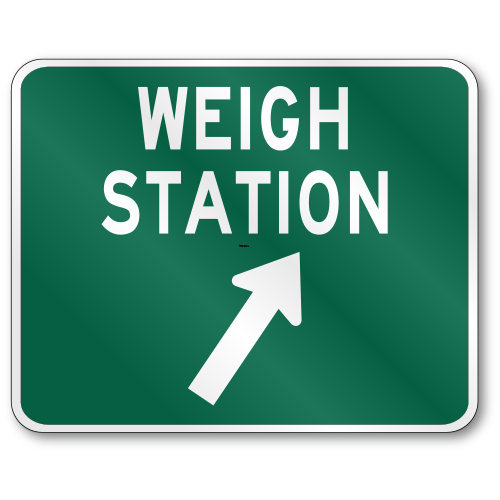 Weigh Station, D8-3 Traffic Sign, .080 Outdoor Reflective