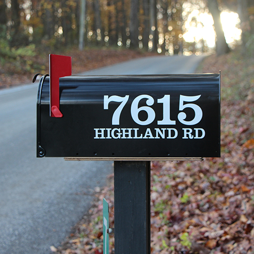 """Personalized Street Signs >> Adhesive Mailbox Numbers, 3"""" x 12"""", Custom Numbers ..."""