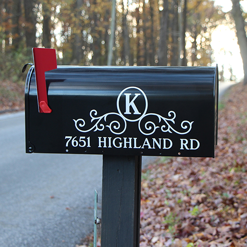 Decorative Mailbox Numbers. close