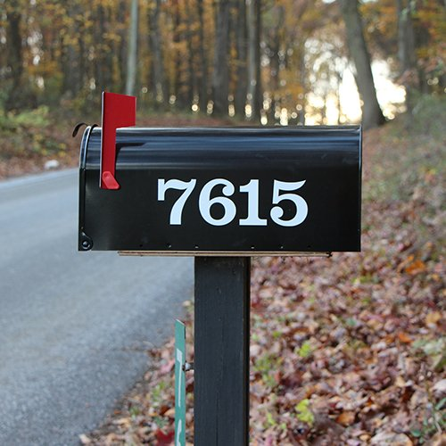Mailbox Letters Name Number & Street Name Custom Mailbox Stickers SET ...