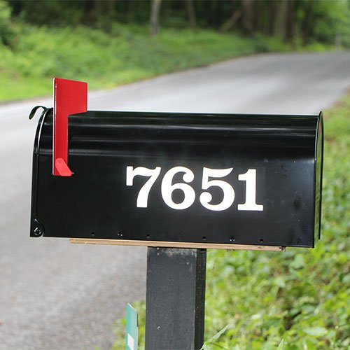 Reflective Mailbox Numbers Custom For House Address Vl00mb