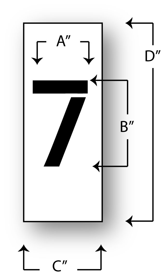 number-7  Inch Lettering Templates Free on