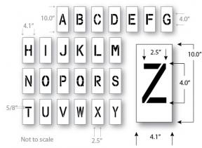 Letter Stencil Kit, 4 inch, Reusable Maxi Thick Plastic, Pavement
