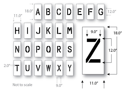 Letter stencil 12 inch for pros ships same day save 29712d letter stencil 12 inch maxi thick spiritdancerdesigns Images