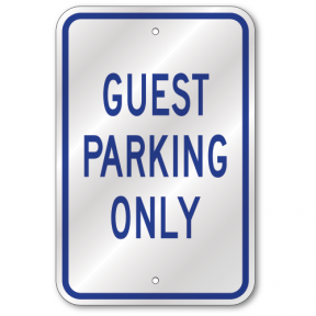 UV Protected Large 12 x 18 Inch Vinyl Sticker Self Adhesive Indoor and Outdoor Use Rust Free Waterproof Permit Parking Only Sign