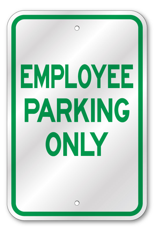 Employee Parking Only Sign, Heavy Reflective Aluminum, 80 ...