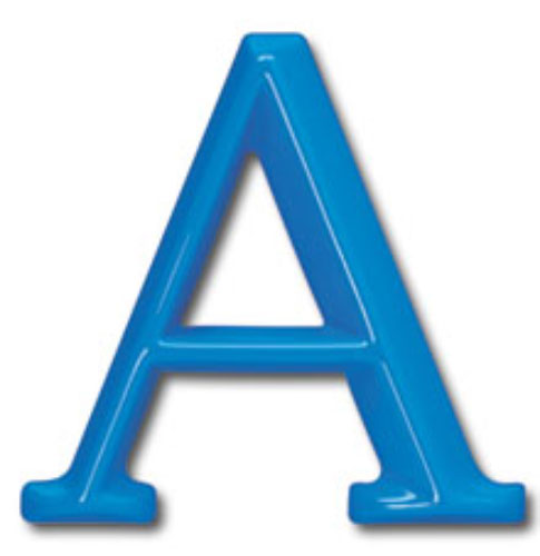 18 inch architectural plastic building sign letters formed for Plastic building sign letters