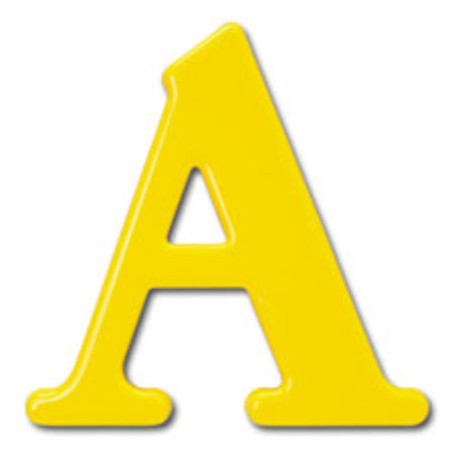 15 Inch Caslon Adbold Plastic Formed Letters & Numbers For
