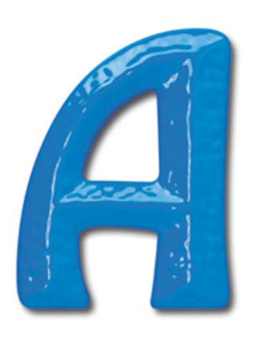 6 inch sculptured plastic building sign letters bl16906 for Plastic building sign letters