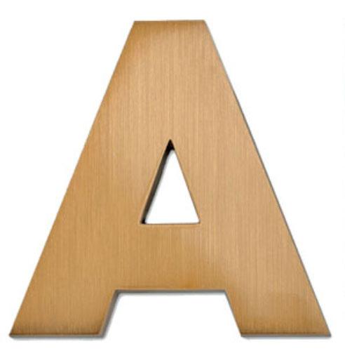 15 inch avant extra bold cast metal letters numbers aluminum or bronze bl24015. Black Bedroom Furniture Sets. Home Design Ideas
