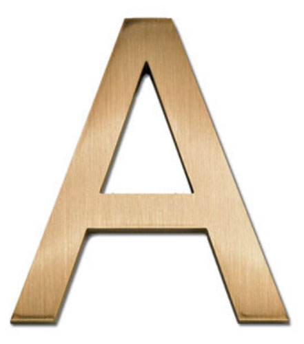 6 inch Helvetica Light Cast Metal Letters & Numbers, Aluminum or Bronze