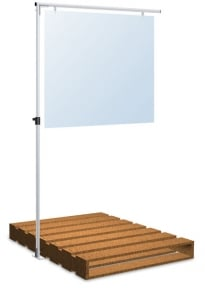 pallet sign stand low prices fast ship sf45plt1