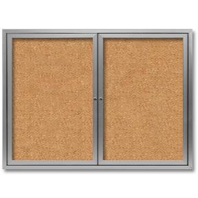 Enclosed Office Bulletin Board   60W X 48H