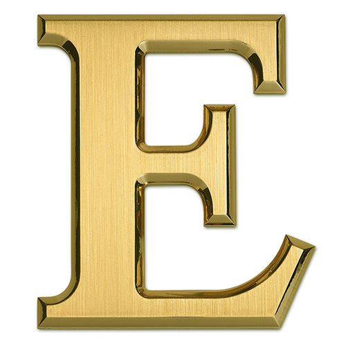 Brass metal letter 1 3 4 inch small intricate detail for 3 inch black metal letters
