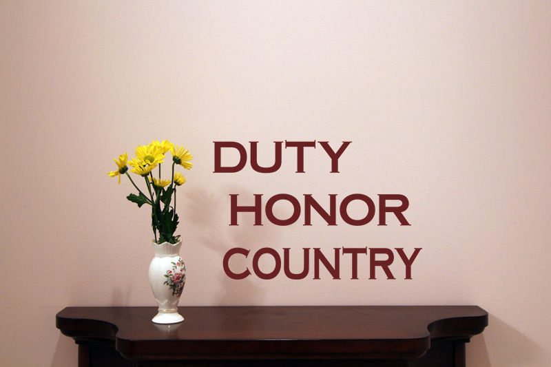 Duty Honor Country Vinyl Wall Quote Easy Install Vl08003